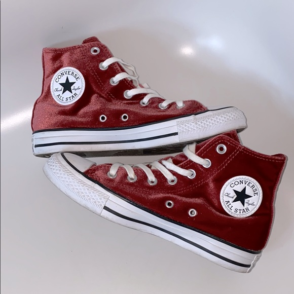 Converse Shoes   High Top Velvet   Poshmark